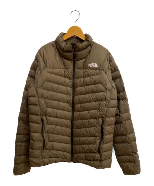 THE NORTH FACE(ザノースフェイス)THE NORTH FACE (ザノースフェイス) サンダージャケット ブラウン サイズ:XLの古着・服飾アイテム