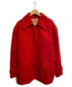 SOO WOOLEN MILLS(SOO WOOLEN MILLS)の古着「[古着]ウールジャケット」 レッド