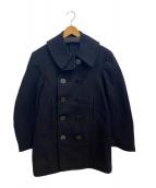 US NAVY(ユーエスネイビー)の古着「[古着]ヴィンテージPコート」|ブラック