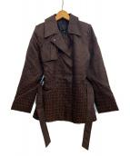 FENDI(フェンディ)の古着「[OLD]ズッキーノ柄オーバーコート」|ブラウン