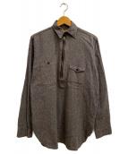 BIG SMITH(ビッグスミス)の古着「ハージジップシャンブレーシャツ」 ブラック