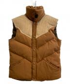 WILLIAM BARRY(ウィリアムバリー)の古着「[古着]70-80s ダウンベスト」|ブラウン