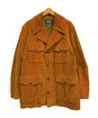 Oakbrook Sportswear(オークブルックスポーツウェア)の古着「[古着]60-70s ランチコート」 ブラウン