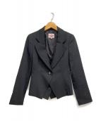 V.W. RED LABEL(ヴィヴィアンウエストウッドレッドレーベル)の古着「レイヤードテーラードジャケット」|ブラック