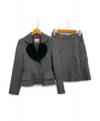 V.W. RED LABEL(ヴィヴィアンウエストウッドレッドレーベル)の古着「ラブジャケットスーツ」|グレー