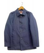MACKINTOSH PHILOSOPHY(マッキントッシュフィロソフィー)の古着「ゴム引きステンカラーコート」|ネイビー