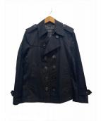 BURBERRY BLACK LABEL(バーバリーブラックレーベル)の古着「ショートトレンチコート」|ブラック