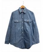 BIG MAC(ビッグマック)の古着「[古着]80s シャンブレーシャツ」|ブルー
