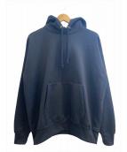 AURALEE(オーラリー)の古着「BAGGY POLYESTER SWEAT P/O PARK」|ブラック