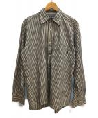 OLD STUSSY(オールドステューシー)の古着「ストライプシャツ」|グレー×ホワイト