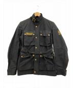 BELSTAFF(ベルスタッフ)の古着「[古着]オイルドワックスコットンジャケット」|ブラック
