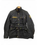 BELSTAFF()の古着「[古着]オイルドワックスコットンジャケット」|ブラック