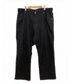 MAISON EUREKA(メゾン エウレカ)の古着「EASY BIGGY PANTS」|ブラック