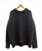 MAISON EUREKA(メゾン エウレカ)の古着「プレーティングセーター」|グレー