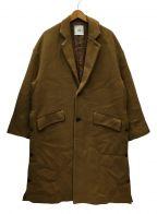 CLANE HOMME(クラネ オム)の古着「OVER SIZE CHESTER COAT」|キャメル