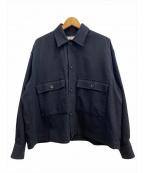 CLANE HOMME(クラネ オム)の古着「スタンドフォールカラージャケット」|ネイビー