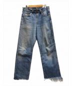 77circa(ナナナナサーカ)の古着「Make Fringe Denim Pants」 インディゴ