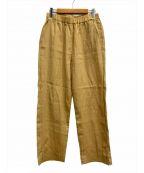 08sircus(ゼロエイトサーカス)の古着「ヴィスコースワッシャースリットイージーパンツ」 イエロー