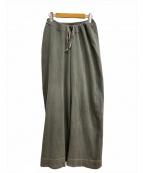 MAISON EUREKA(メゾン エウレカ)の古着「LINED CORD EASY KNIT PANTS」|グレー