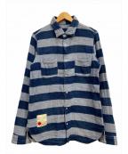 SEVESKIG(セヴシグ)の古着「BORDER SHIRT」|グレー×ブルー
