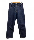 SERGE de bleu(サージ デ ブルー)の古着「コットンドライデニムパンツ」|インディゴ