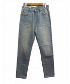 SERGE de bleu(サージ デ ブルー)の古着「コットンユーズドハイウエストコクーンデニムパンツ」|ブルー