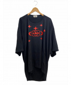 Vivienne Westwood man()の古着「デザインオーバーサイズTシャツ」 ブラック