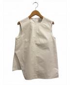 STUDIO NICHOLSON(スタジオニコルソン)の古着「Osaki Top」|ホワイト