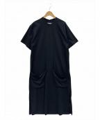 STUDIO NICHOLSON(スタジオニコルソン)の古着「MERCERIZED COTTON JERSEY DRESS」|ブラック