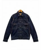 MOMOTARO JEANS(桃太郎ジーンズ)の古着「14.7oz特濃ダブルポケットデニムジャケット」 インディゴ