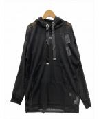 FILA(フィラ)の古着「シースルーフードワンピース」 ブラック
