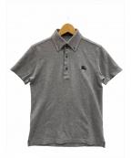 BURBERRY BLACK LABEL()の古着「ポロシャツ」|グレー