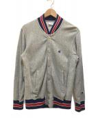 ()の古着「スナップスウェットシャツ」 グレー