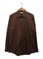 HERMES(エルメス)の古着「[OLD]ブロードシャツ」 ブラウン
