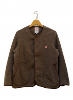 DANTON(ダントン)の古着「ノーカラーフリースジャケット」 ブラウン