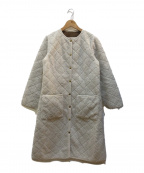 Traditional Weatherwear(トラディショナルウェザーウェア)の古着「ARKLEY BOA LONG COAT」 ホワイト