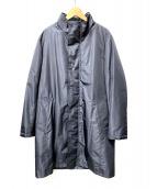 Aquascutum(アクアスキュータム)の古着「ダウンライナー付スタンドカラーコート」|ブラック