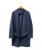 HERNO(ヘルノ)の古着「ヘリンボーンウールコート」 ネイビー