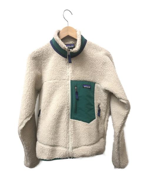 Patagonia(パタゴニア)Patagonia (パタゴニア) ボアジャケット ベージュ×グリーン サイズ:XXSの古着・服飾アイテム