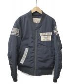 AVIREX(アビレックス)の古着「フライトジャケット」|ネイビー