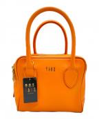 DAKS(ダックス)の古着「ボックスバッグ」 オレンジ