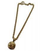 CHANEL(シャネル)の古着「ヴィンテージココマークネックレス」|ゴールド