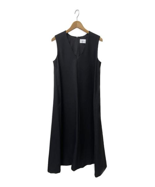 SHIPS any(シップスエニィ)SHIPS any (シップスエニィ) ウールライクマキシテントワンピース ブラック サイズ:Fの古着・服飾アイテム
