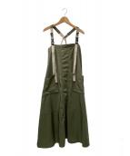 ()の古着「ジャンパースカート」|オリーブ
