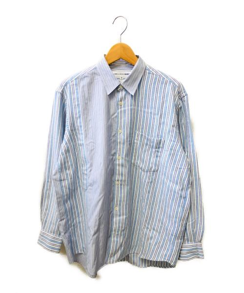 COMME des GARCONS SHIRT(コムデギャルソン シャツ)COMME des GARCONS SHIRT (コムデギャルソン シャツ) パターン切替シャツ ブルー サイズ:Mの古着・服飾アイテム
