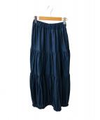 ()の古着「ティアードスカート」 ネイビー