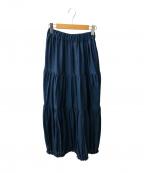 SACRA(サクラ)の古着「ティアードスカート」|ネイビー