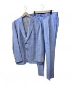 PAPAS(パパス)の古着「リネン混セットアップスーツ」 ブルー