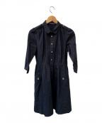 BURBERRY BLUE LABEL(バーバリーブルーレーベル)の古着「シャツワンピース」|ネイビー