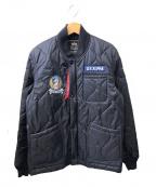 ALPHA(アルファ)の古着「ナイロンキルティングジャケット」|ブラック